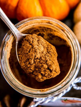 spoonful of homemade pumpkin spice mix