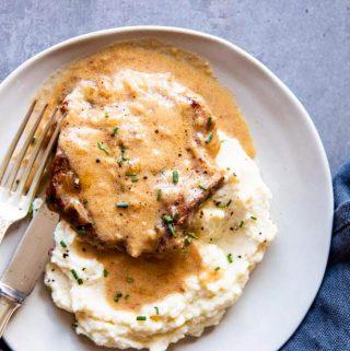 Instant Pot Sour Cream Pork Chops Image TK