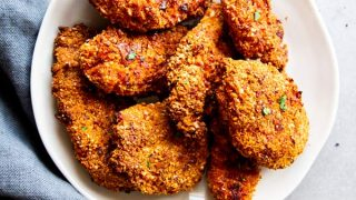 The Best Low Carb Oven Fried Chicken