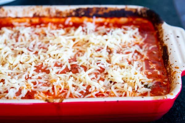 meatball casserole with cheese