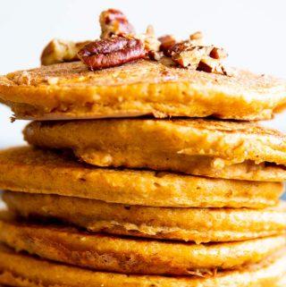 Pumpkin Oatmeal Pancakes Image TK