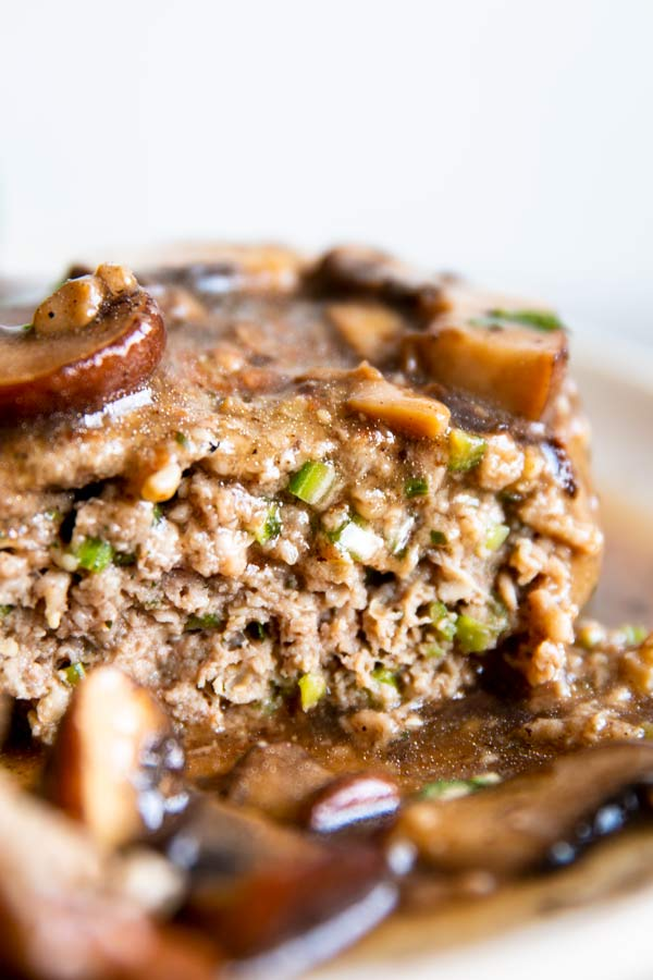 cut salisbury steak