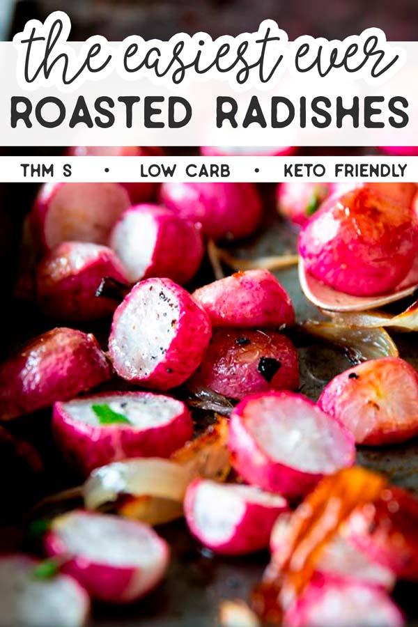 Easy Roasted Radishes Image Pin 1