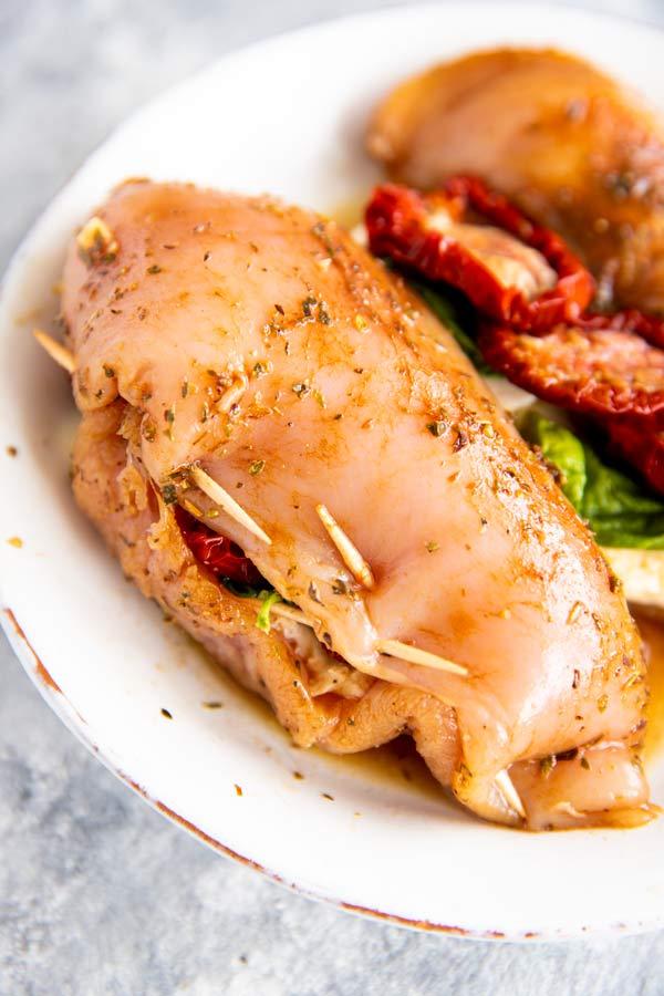 sealed stuffed chicken breast