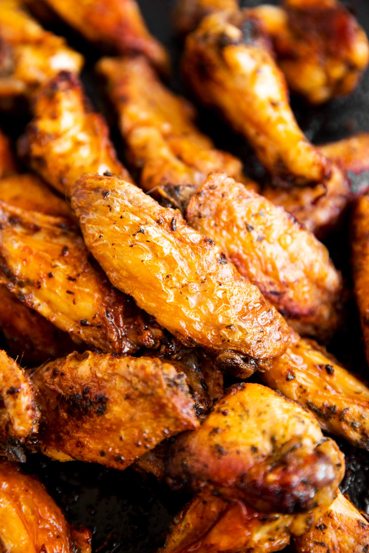 close up photo of baked chicken wings