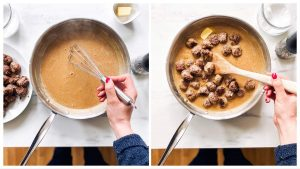 steps to make gravy with meatballs