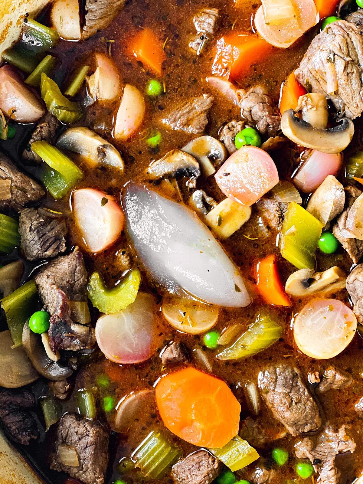 glucomannan pudding in beef stew